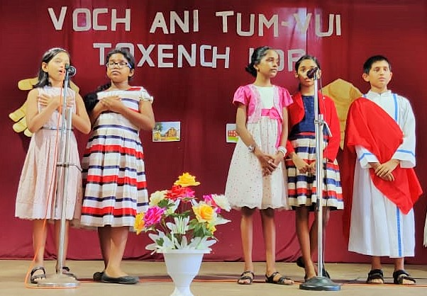 Catechism Children Perform on Life of St Theresa of Child Jesus