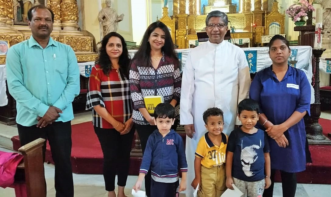 Special Children and Staff of Dempo Kids Pre-School on a visit to our Church
